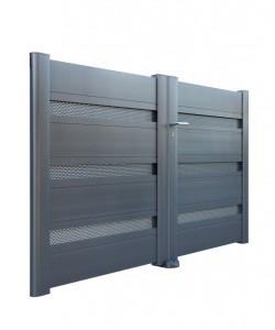 Portail aluminium nuance contemporain